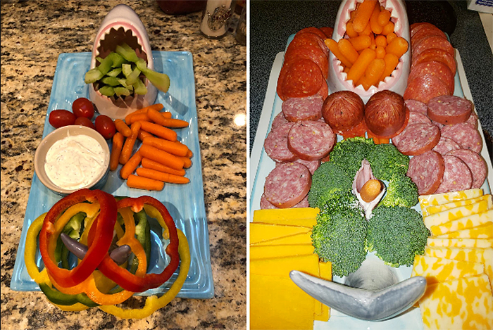 shark attack sushi platter charcuterie board