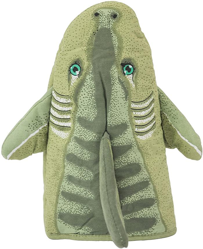 shark-inspired kitchen gloves