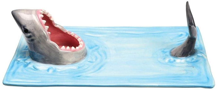 shark-inspired serving tray
