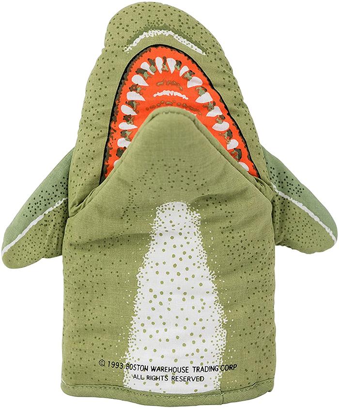 shark oven mitt cotton