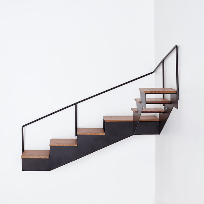 stair-shaped wall mounted shelves