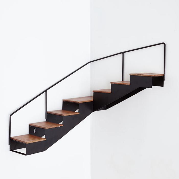 staircase corner shelf decorative storage