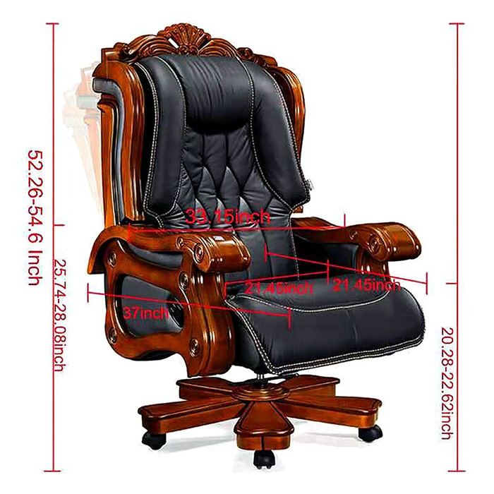timko ultimate genuine leather executive chair dimensions