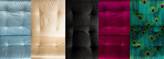 upholstered seating silk satin cover