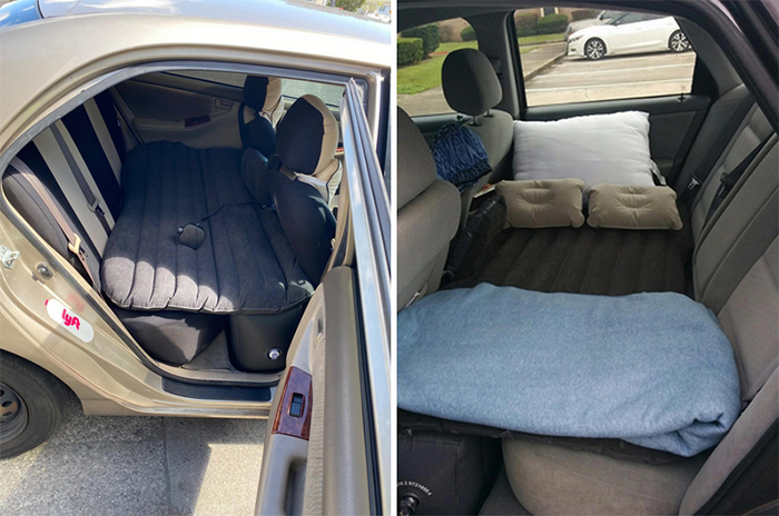 versatile air bed for car suv