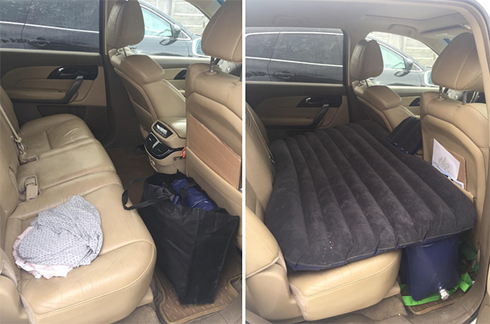 versatile air bed for car