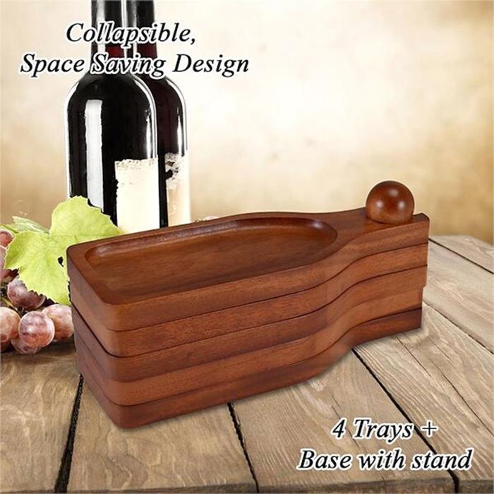 wine bottle-shaped appetizer plate stackable