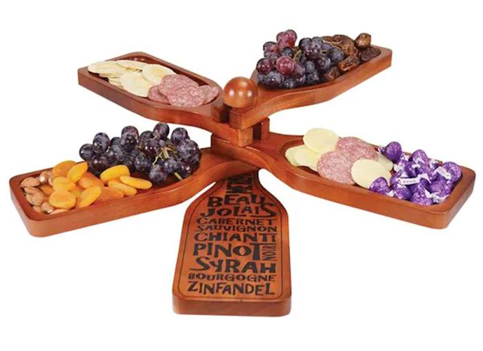 wine bottle-shaped appetizer plate