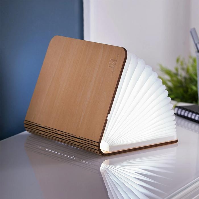 wooden smart book light maple wood