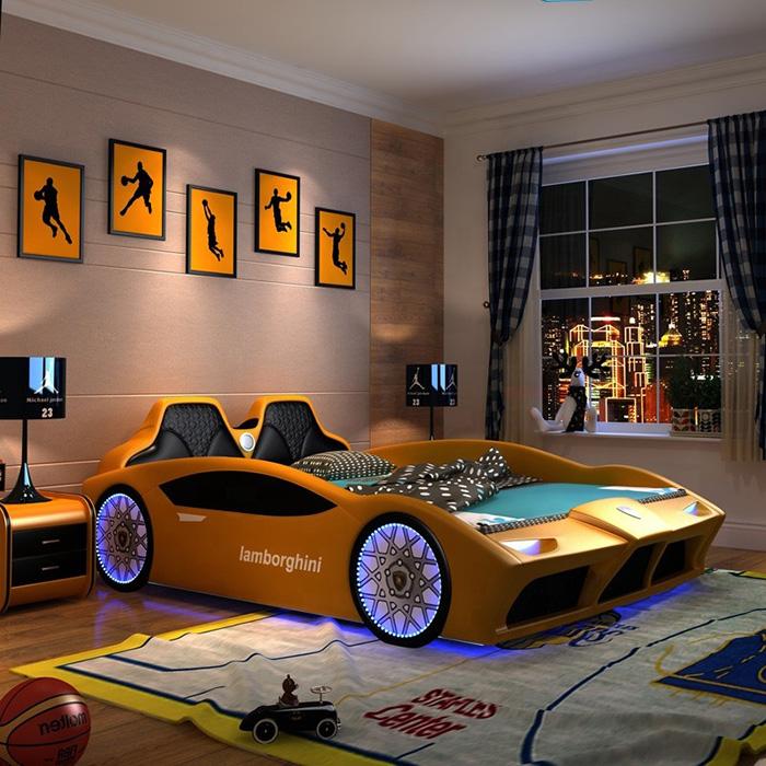 yellow lamborghini inspired bed for grownups