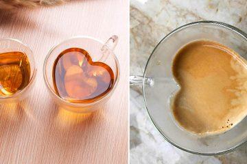 clear heart shaped mug