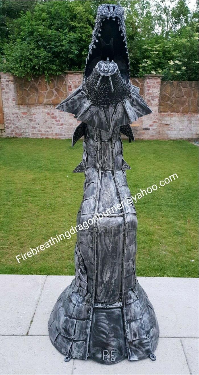 dragon wood burning stove statue