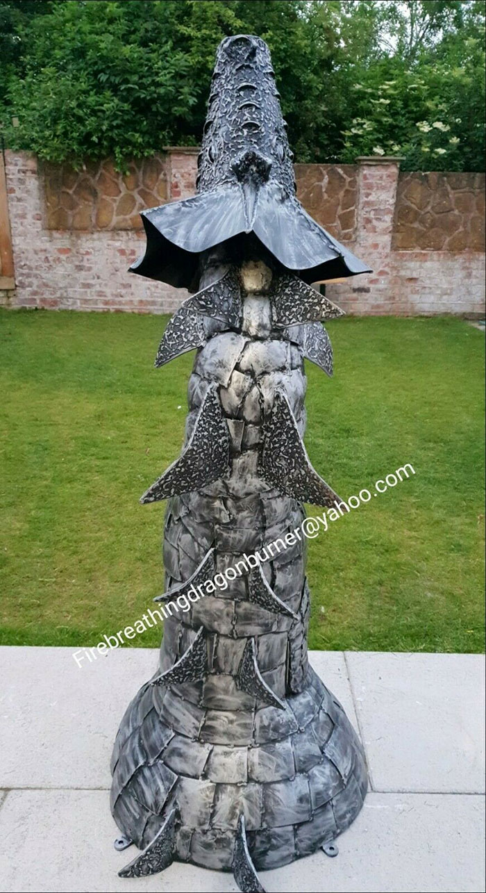 fire breathing dragon wood burning stove statue