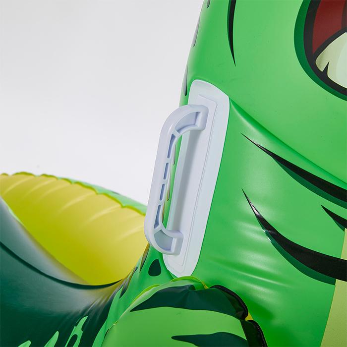 green t-rex pool float heavy duty handles