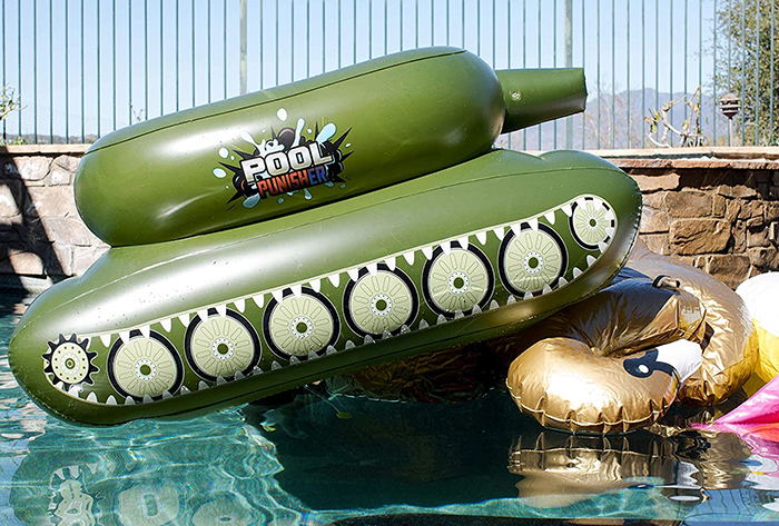inflatable combat vehicle swimming toy with water cannon