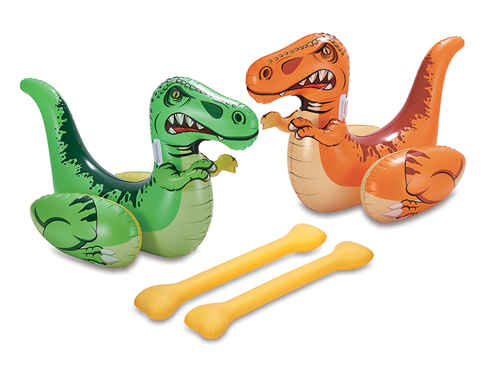 inflatable dino duel pool float game