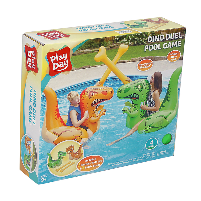 inflatable dino duel ride-on set box