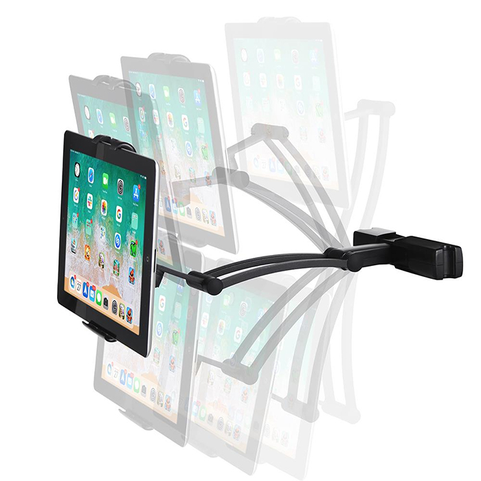 phone tablet cradle pivoting joint