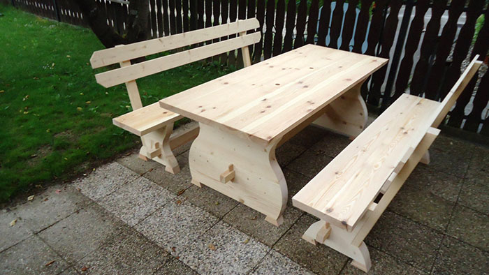 picnic table with drink cooler troughs kiintfurnituredesign