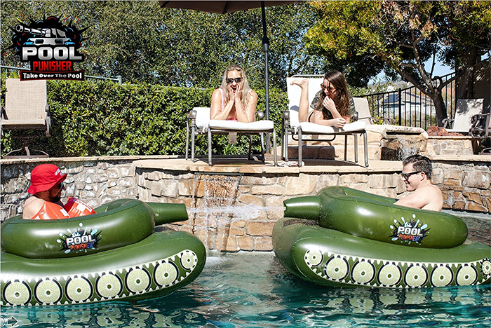 pool punisher tank pool float fight