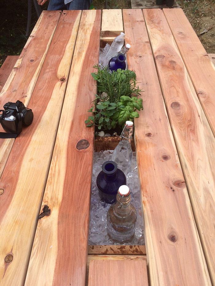 redwood drink cooler troughs mocahandcrafted