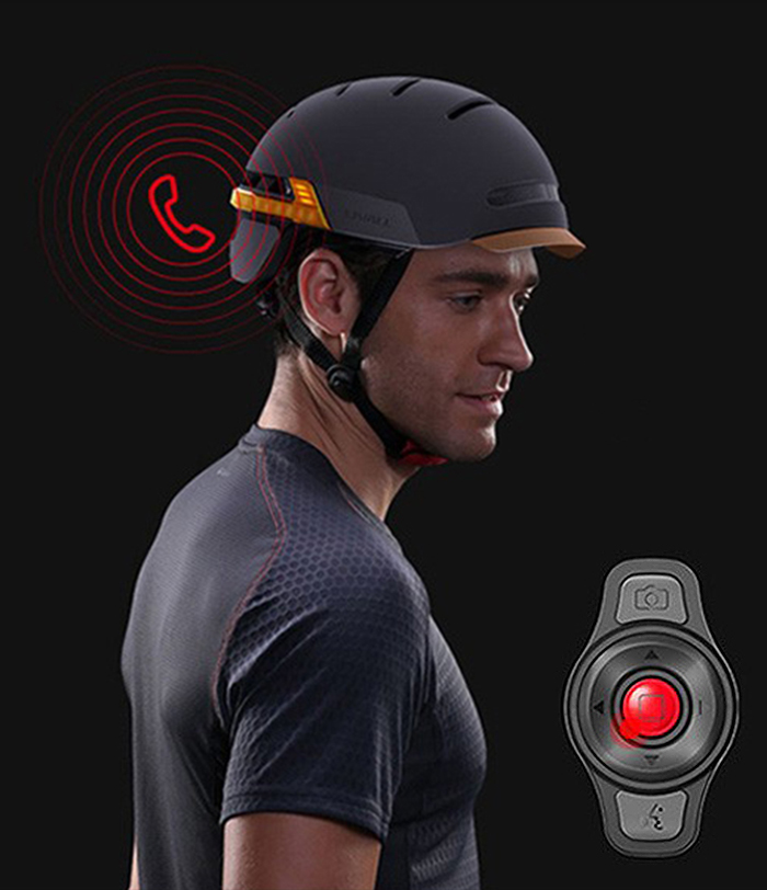 safety enhancing cycling helmet remote control