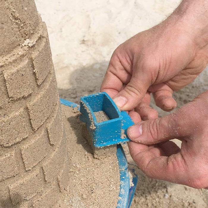 sand castle mold set battlement brick form
