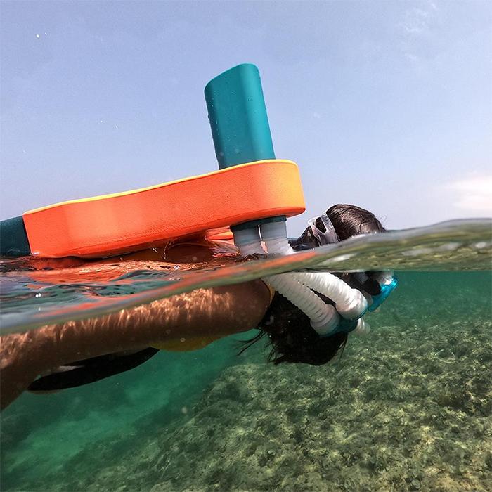 snorkel stabilization system buoyancy aid