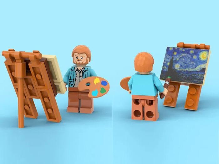 vincent van gogh miniature brick diorama
