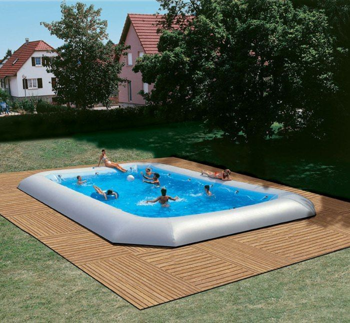 zodiac hippo original giant inflatable rectangular pool