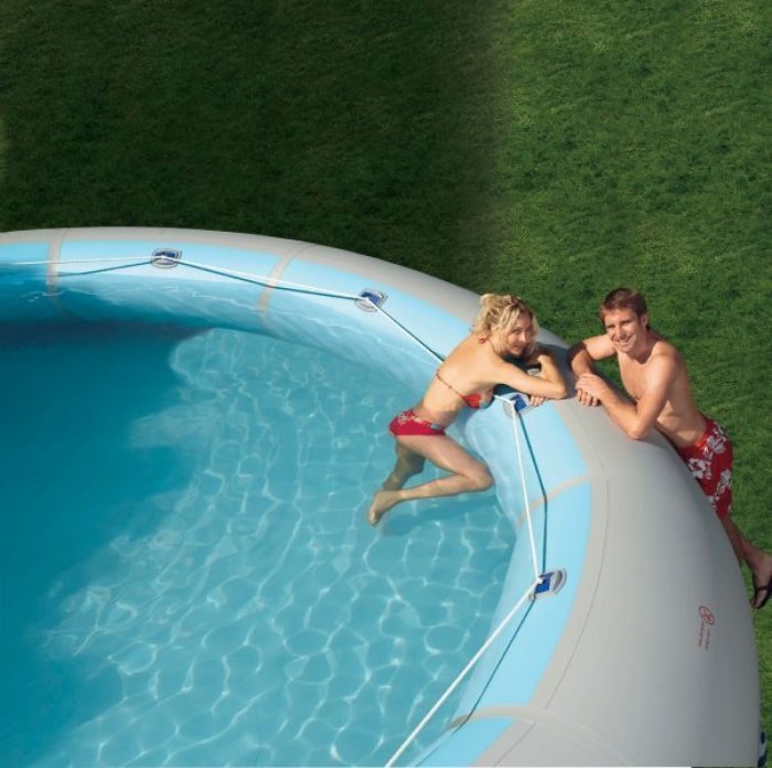 zodiac ovline extra large portable oval blow-up tub