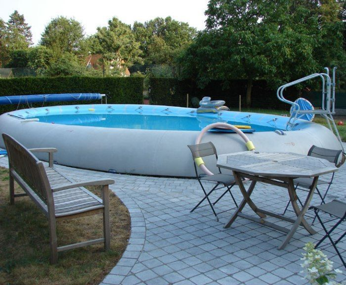 zodiac ovline giant inflatable pool