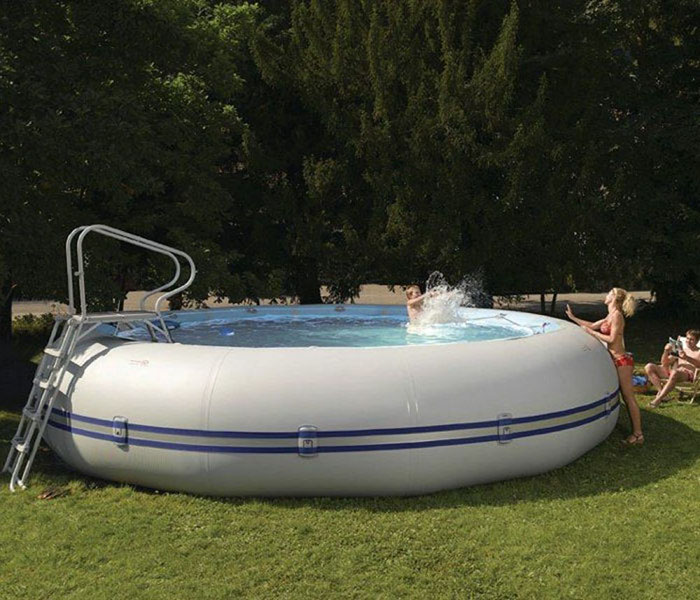zodiac winky extra large portable round blow-up tub