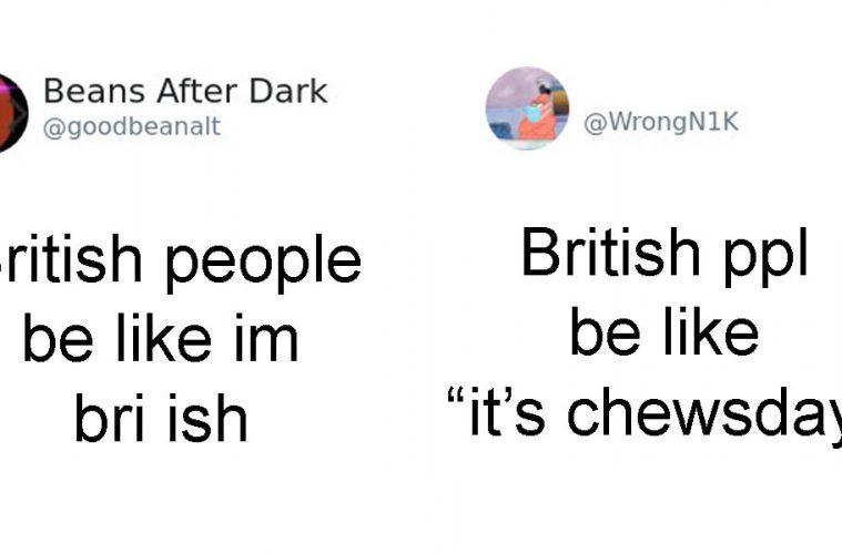 British accent tweets