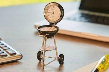 Mini BBQ Grill Deck Clock