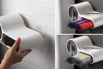 Multifunctional Toilet Paper Holder With Storage Box