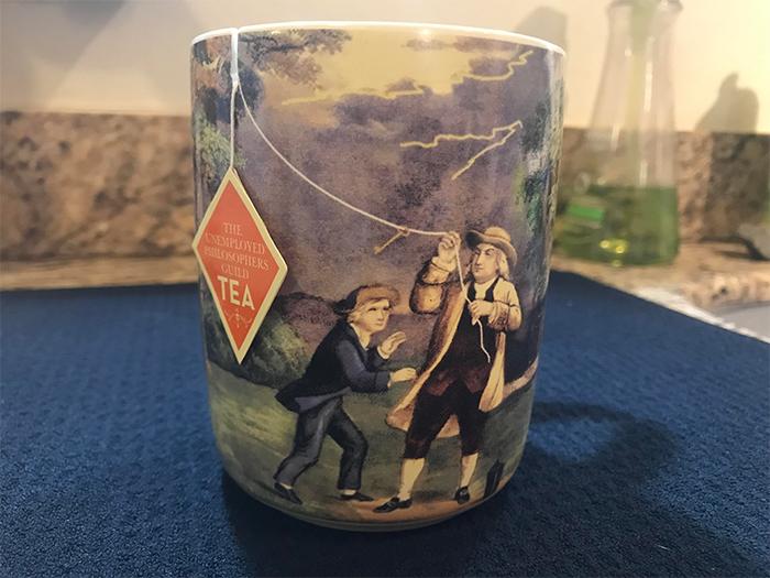 benjamin franklin tea mug