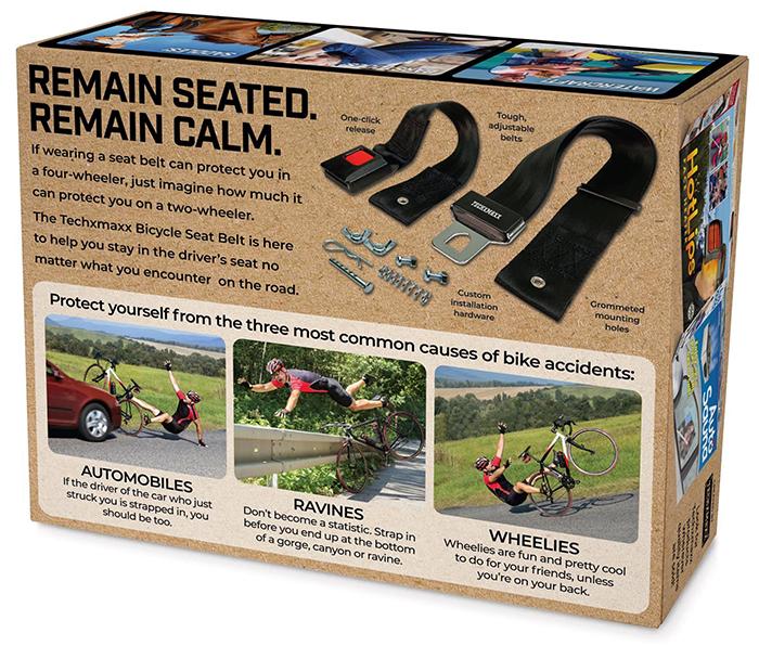 bicycle seat belt prank gift box back