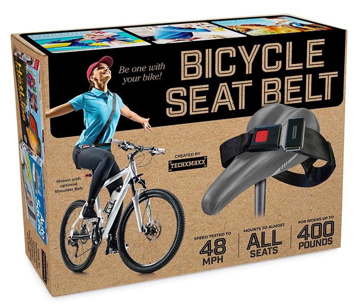 bicycle seat belt prank gift box front