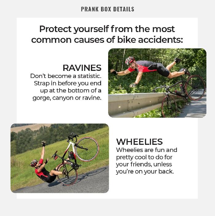 bike safety strap prank gift box details product benefits