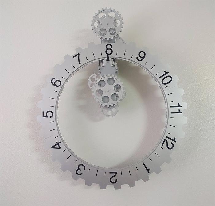 brilliant designs clock rotating numbers