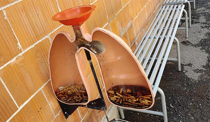brilliant designs lung shaped ashtray