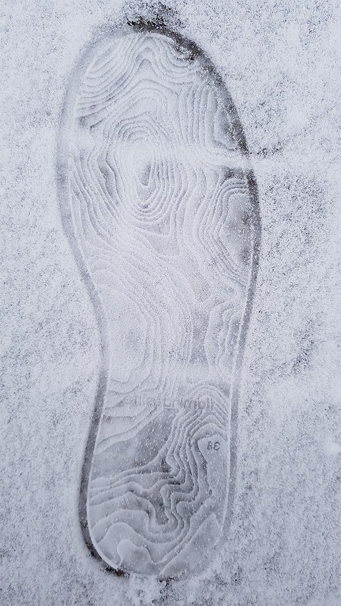 brilliant designs topography shoe soles