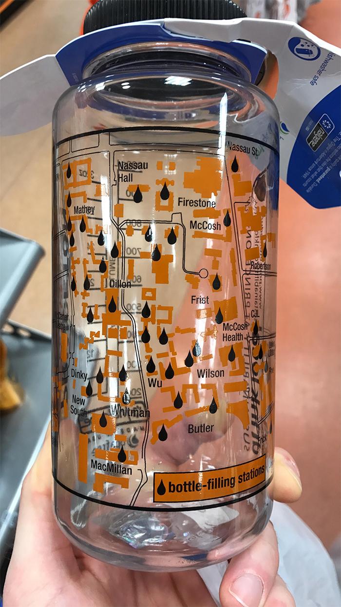 brilliant designs water bottle map filling stations