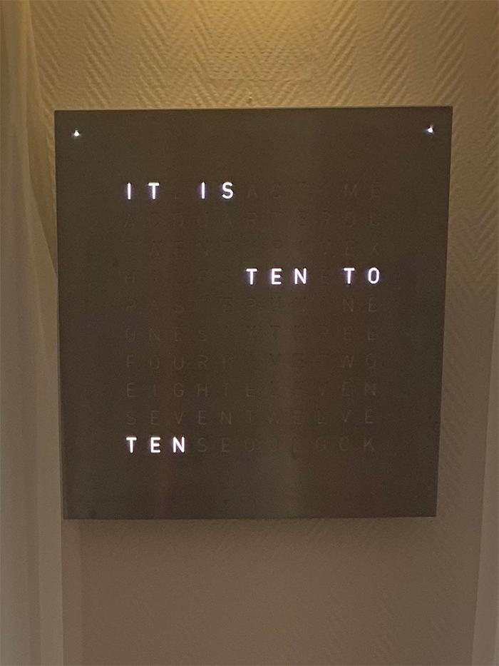 brilliant designs word clock