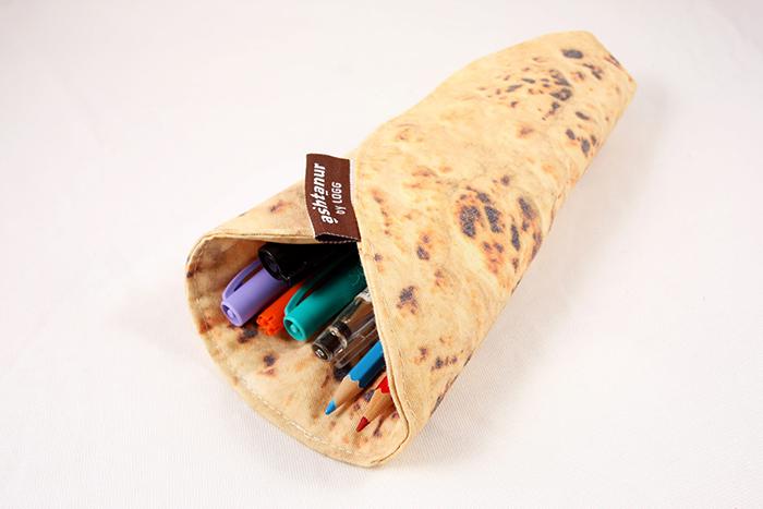 burrito style roll up pen organizer