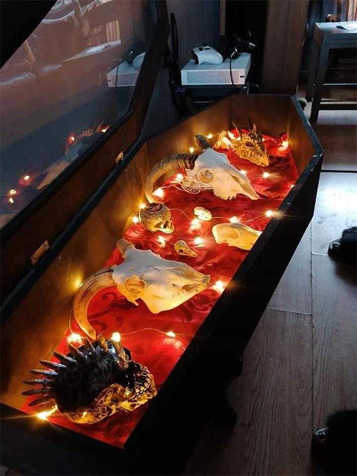 casket-shaped furniture