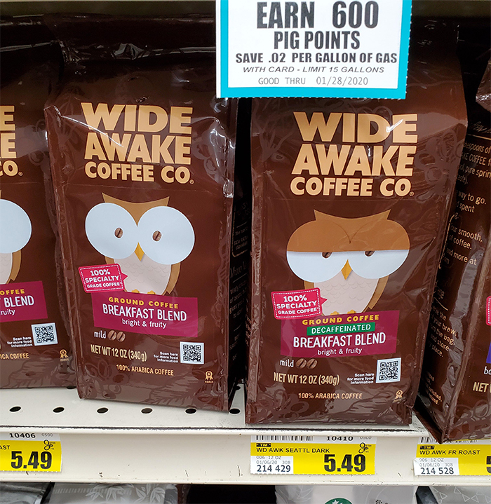 clever coffee packaging decaffeinated