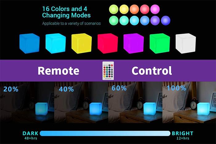 color-changing display light box