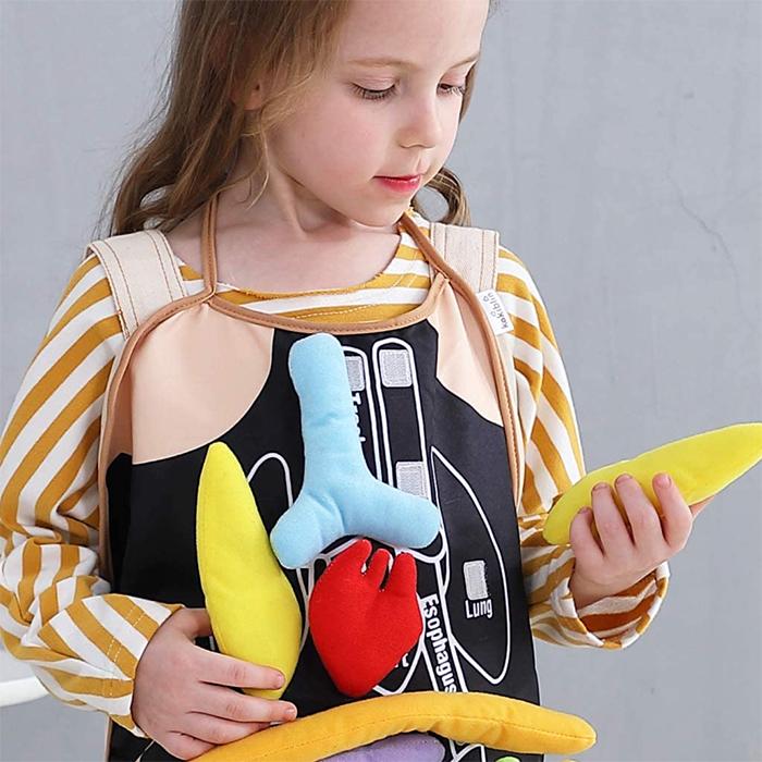 colorful plush organs educational toy black
